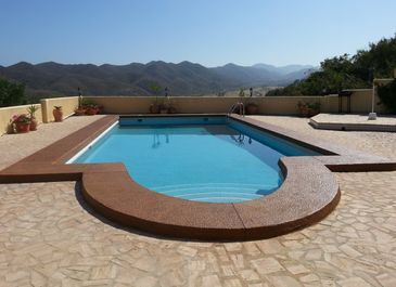 Swimming pool. The project completed